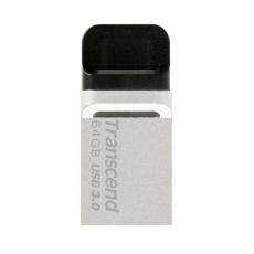 TRANSCEND Flash Disk 64GB JetFlash®880S, USB 3.0/micro USB (R:90/W:24 MB/s) stříbrná