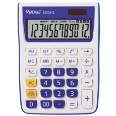 REBELL kalkulačka - SDC912 VL - fialová