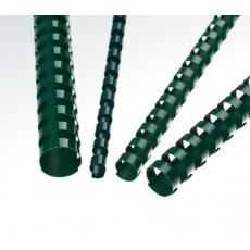Plastové hřbety 14 zelené