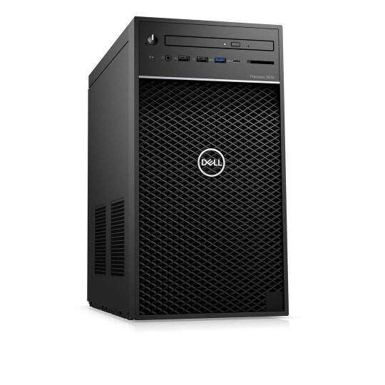 DELL Precision T3630 TWR/Xeon E-2236/16GB/256GBSSD + 1TB/Quadro P2200/DVD RW/Kb/Mouse/W10Pro/vPro/3Y ProSpt NBD