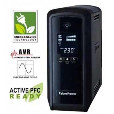 CyberPower PFC SineWare LCD GP UPS 900VA/540W, Schuko zásuvky