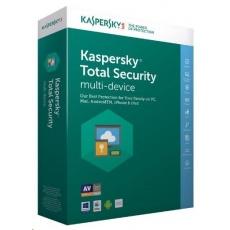 Kaspersky Total Security CZ multi-device, 2 zařízení, 2 roky, obnovení licence, elektronicky