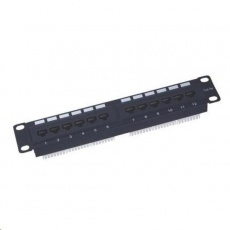 "10"" Patch panel XtendLan 12port, UTP, Cat5E, krone, černý"