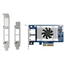 QNAP QXG-10G2T-X710 síťová rozšiřující karta 10GbE, dual-port Intel X710, 4xPCIe pro NAS s PCIe