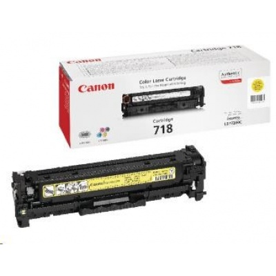 Canon LASER TONER yellow CRG-718Y (CRG718Y) 2 900 stran*