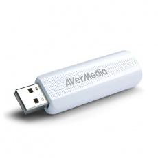 AVERMEDIA TV tuner DVB-T2 TD310, externí, USB, bílý