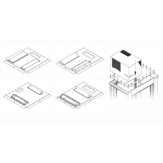 TRITON montážní redukce ke klimatizaci X1 a X2 na šířku rozvaděče 800 x 1000 mm, šedá