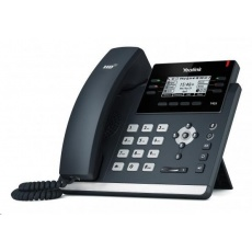 "Yealink SIP-T42S IP telefon, 2,7"" 192x64 LCD, 15 prog.tl., 2x 10/100/1000, PoE, 12x SIP, 1x USB, Skype, bez adaptéru"