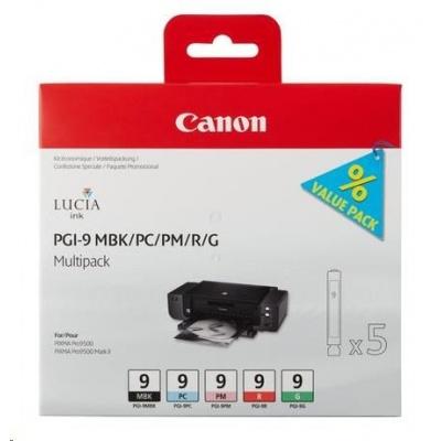 Canon BJ Cartridge  PGI-9 MBK/PC/PM/R/G Multi Pack