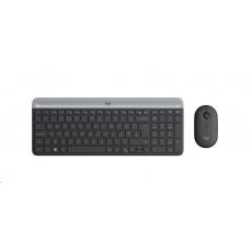 Logitech Wireless Desktop MK470, CZ/SK, Black