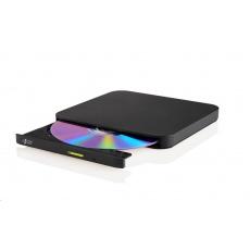 HITACHI LG - externí mechanika DVD-W/CD-RW/DVD±R/±RW/RAM/M-DISC GP96Y, Ultra Slim, OTG konektor, Black, box+SW