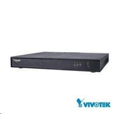 Vivotek NVR ND9322P (v2), 8 kanálů s PoE (120W), 4k UHD, 2x HDD (max.16TB), 2x USB, 1xHDMI (až 4k), DI/DO, Vivo Cloud