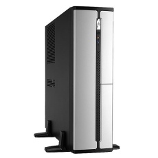 IN WIN skříň BL634, mATX, 300W 80+ Bronze PSU EUP / 4 x USB/ HD audio, Black/Silver