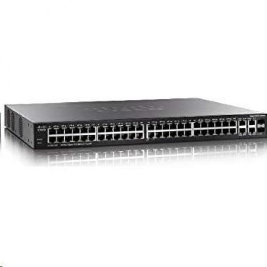 Cisco switch SG350-52 48x10/100/1000, 2xSFP, 2xGbE SFP/RJ-45