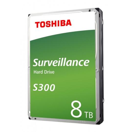 "TOSHIBA HDD S300 PRO Surveillance (CMR) 8TB, SATA III, 7200 rpm, 256MB cache, 3,5"", BULK"