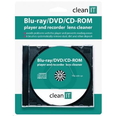 CLEAN IT Čistící CD pro CD/DVD/Blu-Ray přehrávače a PC mechaniky (6 kartáčků)