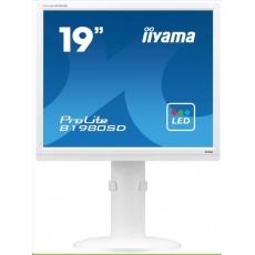 Iiyama monitor ProLite B1980SD, 48.3 cm (19''), 5:4, VGA, DVI, Pivot, white