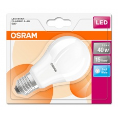 OSRAM LED STAR CL A Fros. 5,5W 840 E27 470lm 4000K (CRI 80) 15000h A+ (Krabička 1ks)