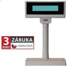 Virtuos zákaznický display FL-2024MW, 2 x 20 znaků 9mm, RS232, včetně napájení +12V