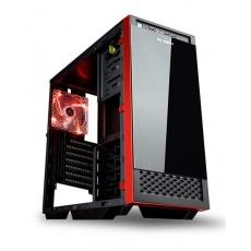 IN WIN skříň 503 Black, Midi Tower, průhledný bok, USB 3.0, bez zdroje, Black