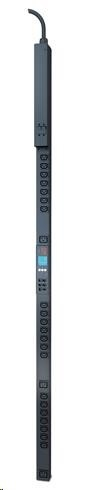 APC Rack PDU 2G, Metered-by-Outlet, ZeroU, 32A, 230V, (21)C13 & (3)C19, IEC-309 32A 2P+E 3m
