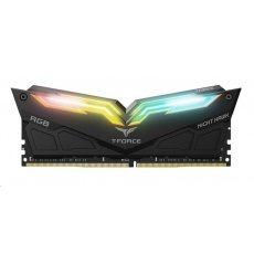 DIMM DDR4 16GB 3000MHz, CL16, (KIT 2x8GB), T-FORCE Night Hawk RGB (Black)