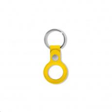 COTEetCI kožené pouzdro proti krádeži pro Apple AirTag, žlutá