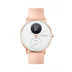 Withings Accessory Leather Wristband Rose Gold Buckle (18mm) for Steel and Steel HR (36mm) - Black