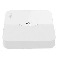 Uniview NVR, 4 PoE (Max 54W) kanály, H.265, 1x HDD, 8Mpix (80Mbps/64Mbps), HDMI, VGA, 4K, ONVIF, 2x USB, audio