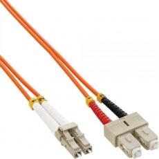 Duplexní patch kabel MM 62,5/125 OM1, LC-SC, LS0H, 1m