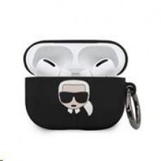 Karl Lagerfeld Silikonový Kryt pro Airpod Pro Black