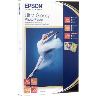 EPSON Paper Ultra Glossy Photo 10x15 (50 listů), 300g/m2
