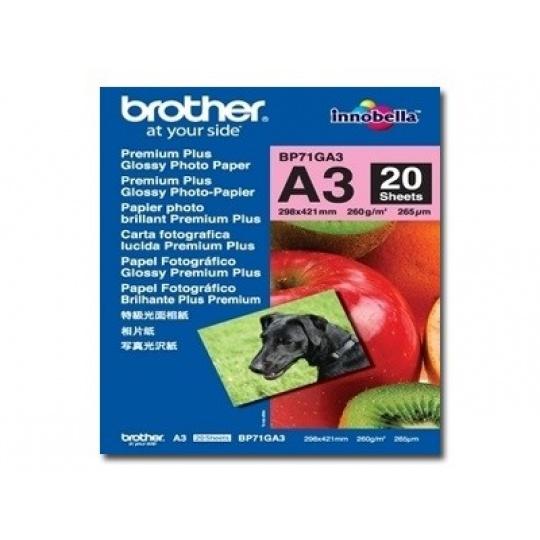 BROTHER Paper BP-71 foto lesklý A3/20ks