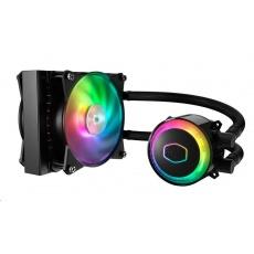 Cooler Master vodní chladič MasterLiquid ML120R RGB, 157mm x 120mm radiátor, 2 x 120mm RGB ventilátory, Univ. socket