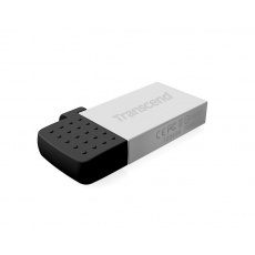 TRANSCEND Flash Disk 64GB JetFlash®380S, USB 2.0/micro USB (R:20/W:10 MB/s) stříbrná