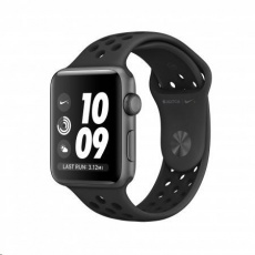 APPLEWatch Nike+ Series 3 GPS, 42mm Space Grey Aluminium Case with Anthracite/Black Nike Sport Band