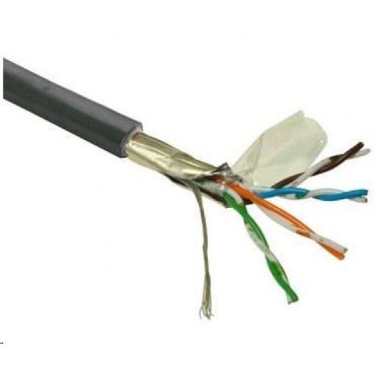 FTP kabel PlanetElite, Cat5E, drát, venkovní PE, černý, 305m