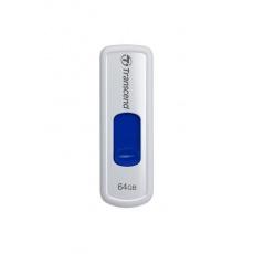 TRANSCEND Flash Disk 64GB JetFlash®530, USB 2.0 (R:16/W:6 MB/s) bílá/modrá Royal