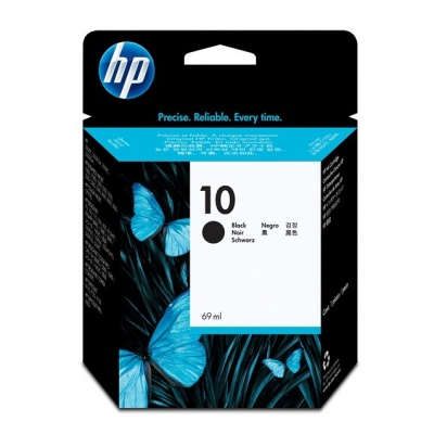 HP 10 Black Ink Cart, 69 ml, C4844A