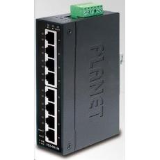 Planet switch IGS-801M, 8X 1000BASE-T, DIN, IP30, -10 AŽ 60°C, ESD+EFT DO 6KV, WEB/SNMP, VLAN, STP