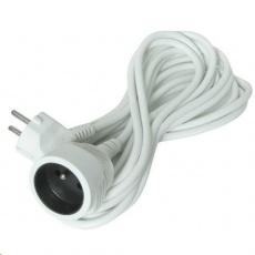 Solight prodlužovací kabel - spojka, 1 zásuvka, bílá, 7m