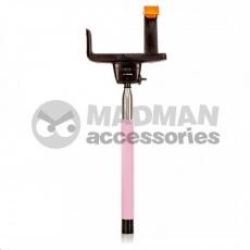 MadMan Selfie tyč DELUXE BT 100 cm růžová (monopod