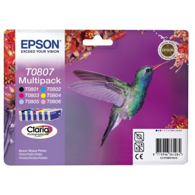 EPSON ink čer+bar CLARIA Stylus Photo R265/ RX560/ R360 - photo multipack