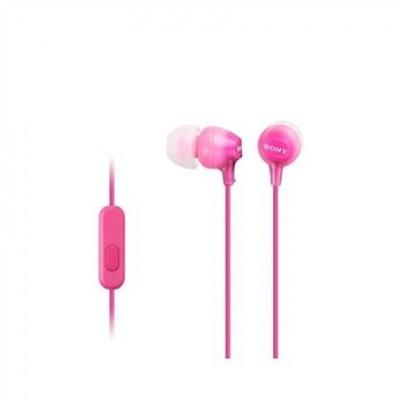 SONY stereo sluchátka MDR-EX15AP, růžová