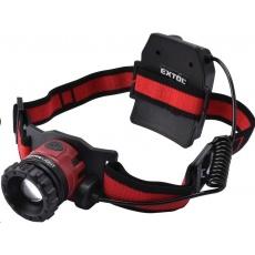 Extol Light čelovka 450lm CREE XPL, nabíjecí, USB, 10W CREE XPL, funkce ZOOM