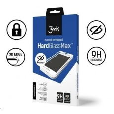 3mk tvrzené sklo HardGlass MAX pro Samsung Galaxy Note 10 Lite, černá