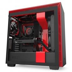 NZXT skříň H710i / ATX / průhledná bočnice / USB 3.0 / USB-C 3.1 / RGB LED / Smart case s intel. funkcemi / černočervená