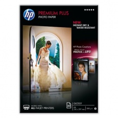 HP Premium Plus Glossy Photo Paper-20 sht/A4/210 x 297 mm, 300 g/m2, CR672A