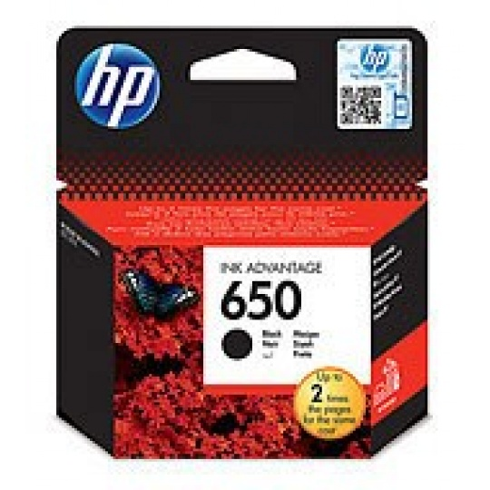 HP 650 Black Ink Cart, 6,5 ml, CZ101AE