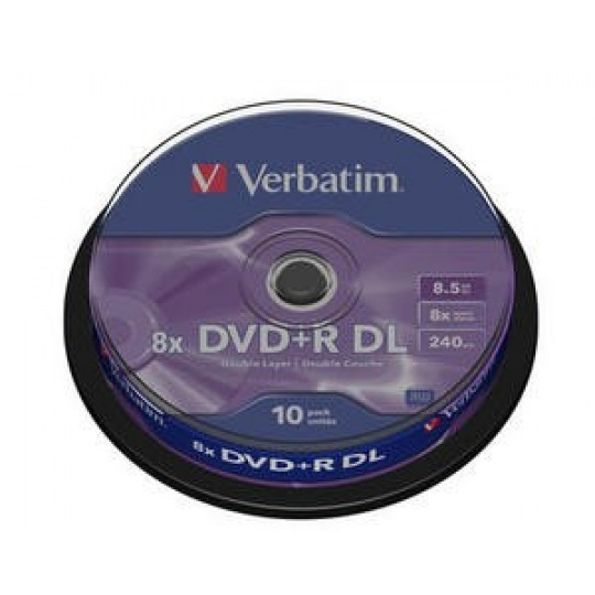 VERBATIM DVD+R(10-pack) Double layer/8x/8.5GB/spindle